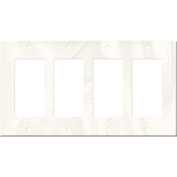 Corian White Onyx 4 Rocker GFCI Decorator Switch Plates