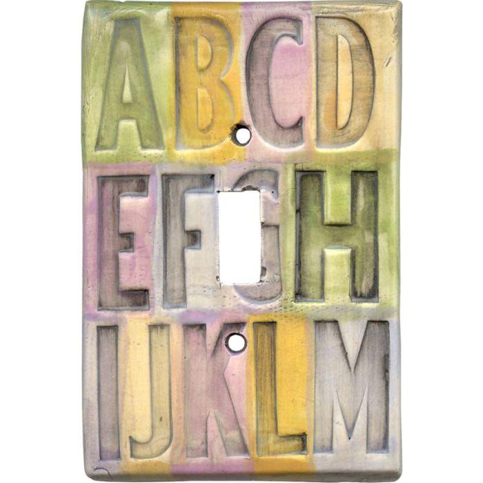 ABC's Single 1 Toggle Light Switch Plates