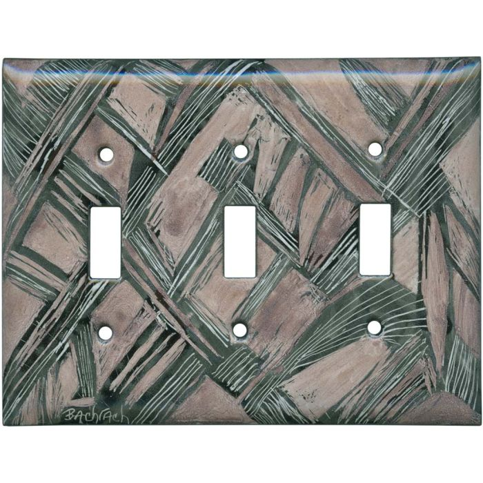 Abstract 10 Triple 3 Toggle Light Switch Covers