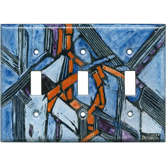 Abstract 11 Triple 3 Toggle Light Switch Covers