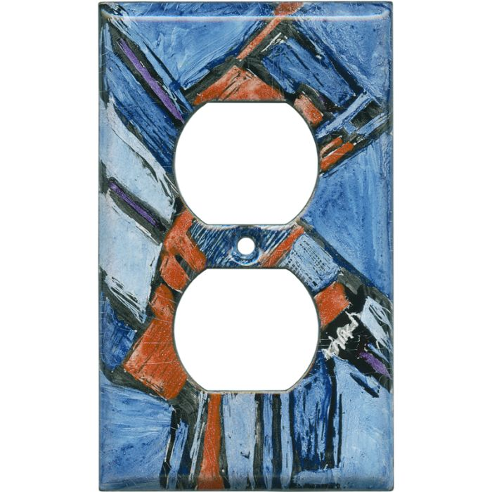 Abstract 11 1 Gang Duplex Outlet Cover Wall Plate