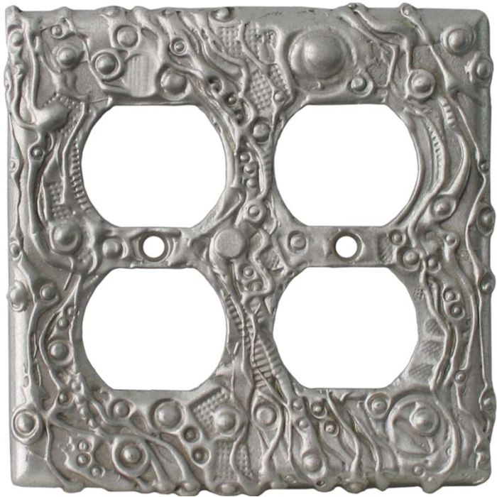 Abstract Wall Plates 2 Gang Duplex Outlet Wall Plate Cover