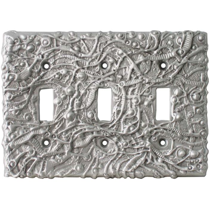 Abstract Wall Plates Triple 3 Toggle Light Switch Covers