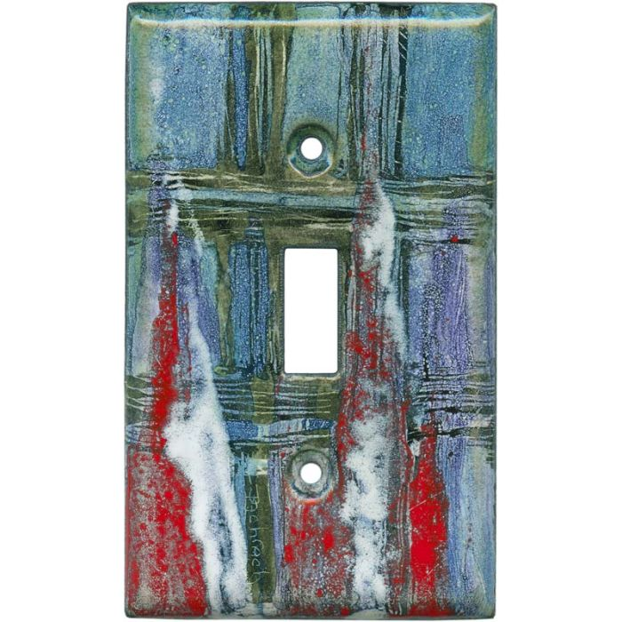Abstract 5 1 Toggle Light Switch Cover