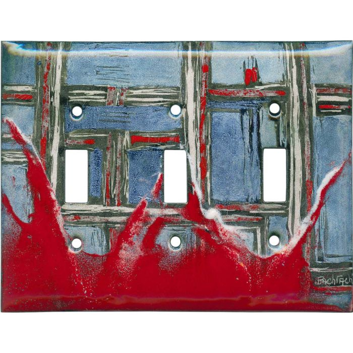 Abstract 5 Triple 3 Toggle Light Switch Covers