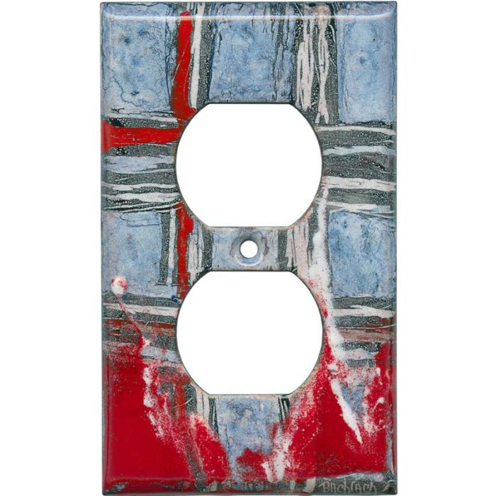 Abstract 5 1 - Gang Duplex Outlet Cover Wall Plate