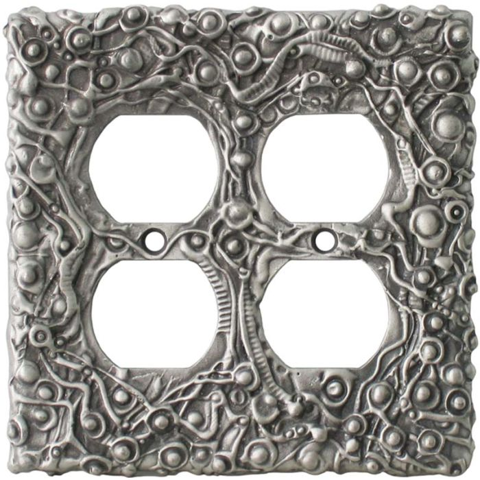 Abstract Oversize 2 Gang Duplex Outlet Wall Plate Cover