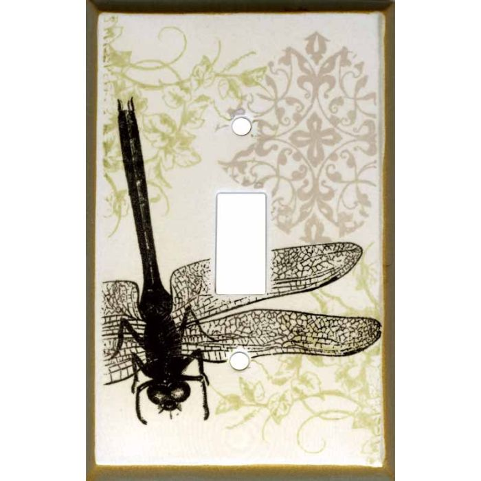 Dragonfly Collage Ceramic Single 1 Toggle Light Switch Plates