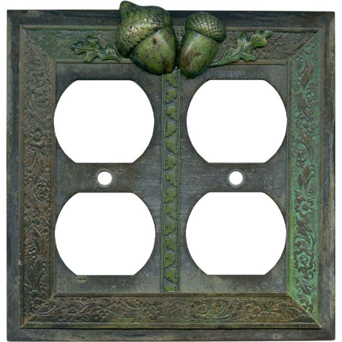 Acorn 2 Gang Duplex Outlet Wall Plate Cover