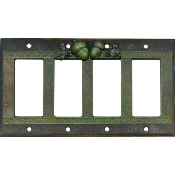 Acorn 4 Rocker GFCI Decorator Switch Plates