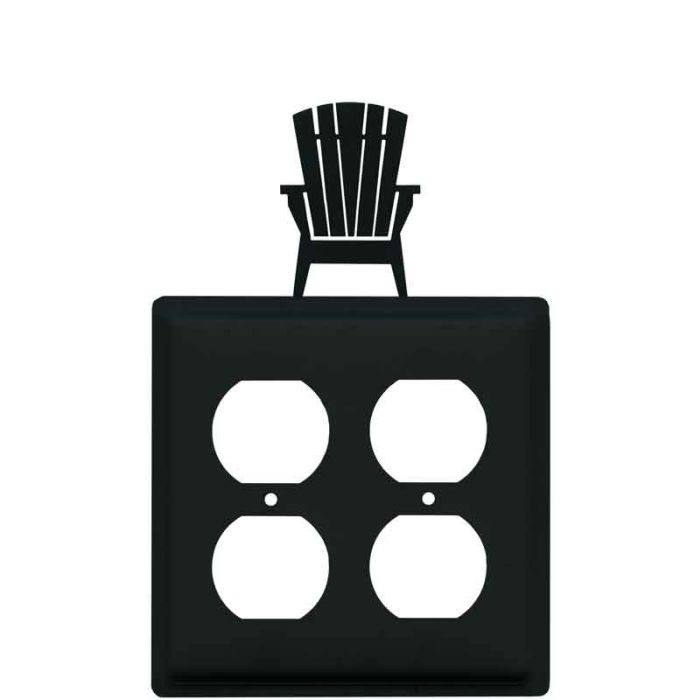 Adirondack Chair 2 Gang Duplex Outlet Wall Plate Cover