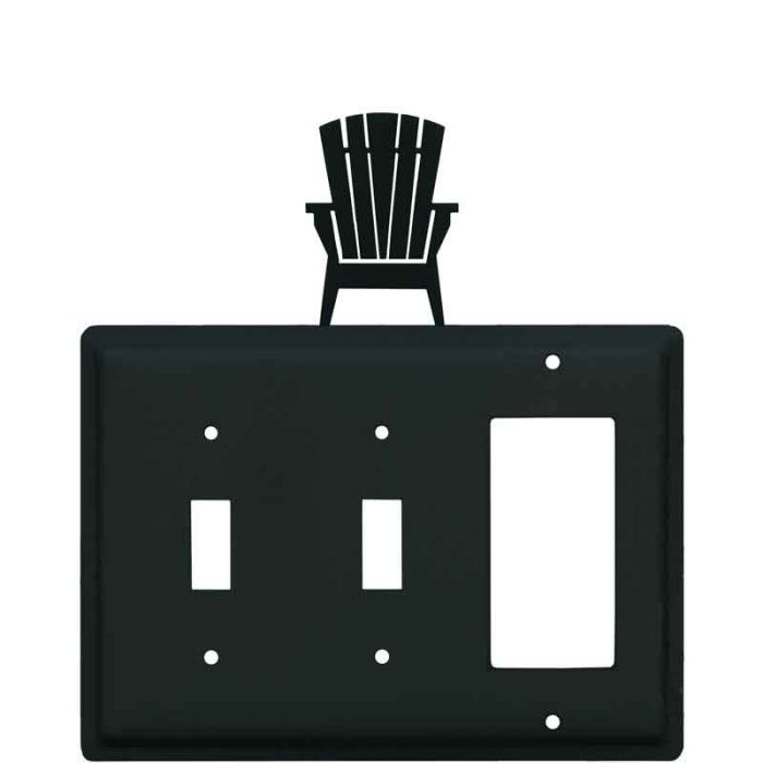 Adirondack Chair Double 2 Toggle / 1 GFCI Rocker Combo Switchplates