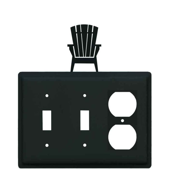 Adirondack Chair Double 2 Toggle / Outlet Combination Wall Plates