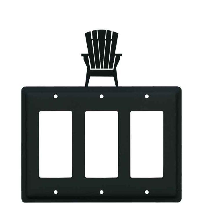Adirondack Chair Triple 3 Rocker GFCI Decora Light Switch Covers