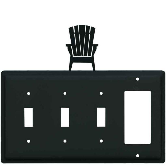 Adirondack Chair Triple 3 Toggle / 1 Rocker GFCI Switch Covers