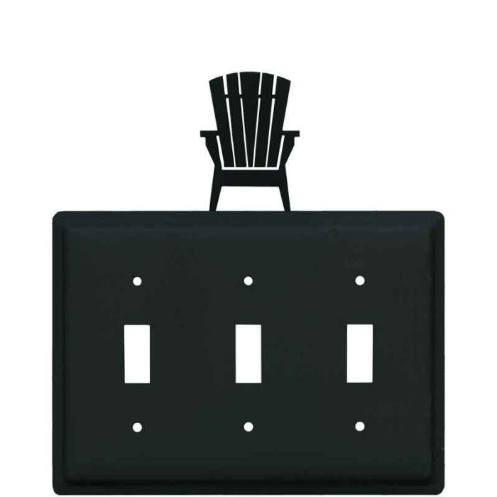 Adirondack Chair Triple 3 Toggle Light Switch Covers