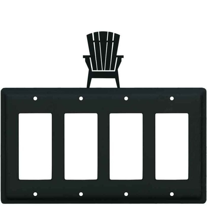 Adirondack Chair 4 Rocker GFCI Decorator Switch Plates
