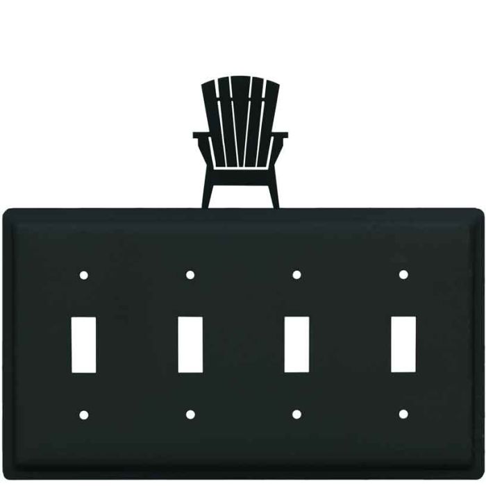 Adirondack Chair Quad 4 Toggle Light Switch Covers