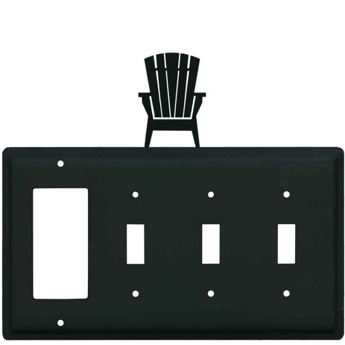 Adirondack Chair 1-Gang GFCI Decorator Rocker Switch Plate Cover