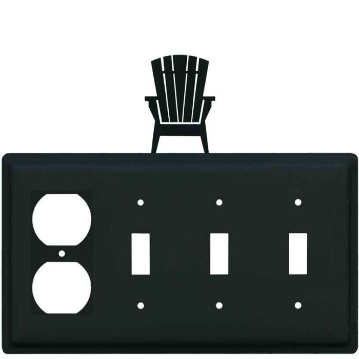 Adirondack Chair 1 - Gang Duplex Outlet Cover Wall Plate