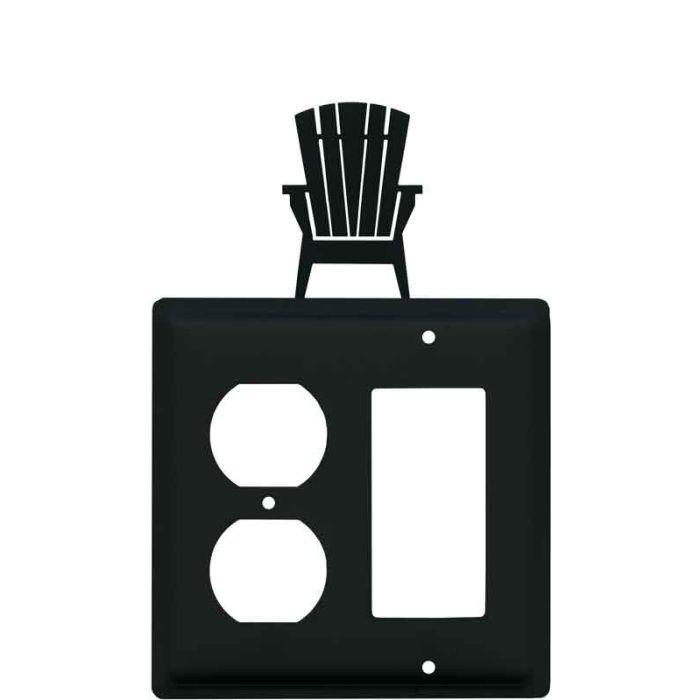 Adirondack Chair 1-Duplex / 1 Decorator Rocker - Combination Switch Cover