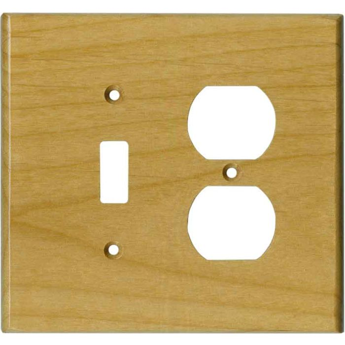 Alder Satin Lacquer - Combination 1 Toggle/Outlet Cover Plates