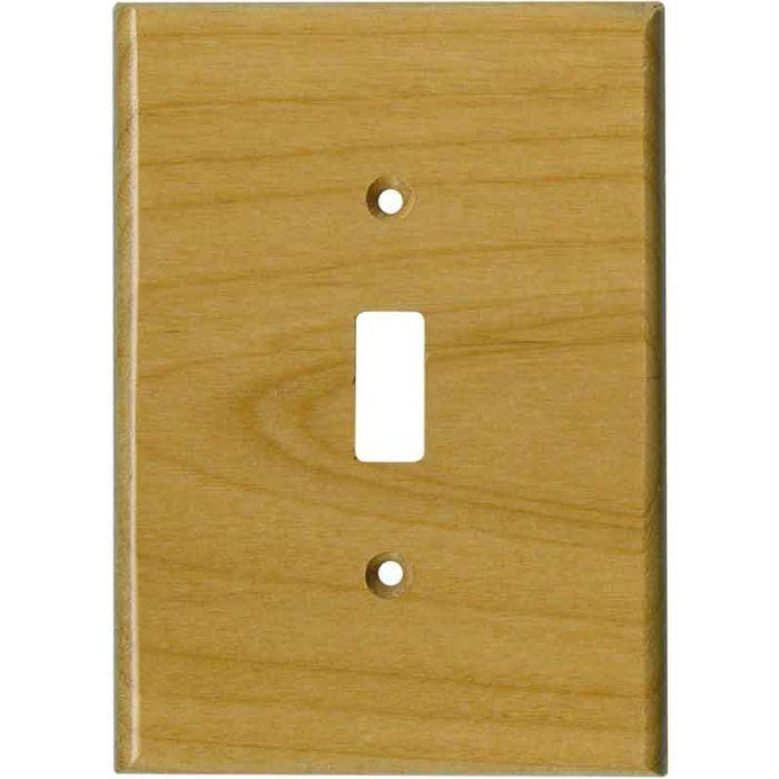 Alder Satin Lacquer Single 1 Toggle Light Switch Plates