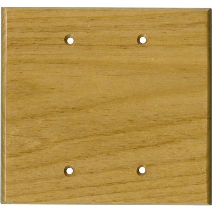 Alder Satin Lacquer - Double Blank Wallplate Covers