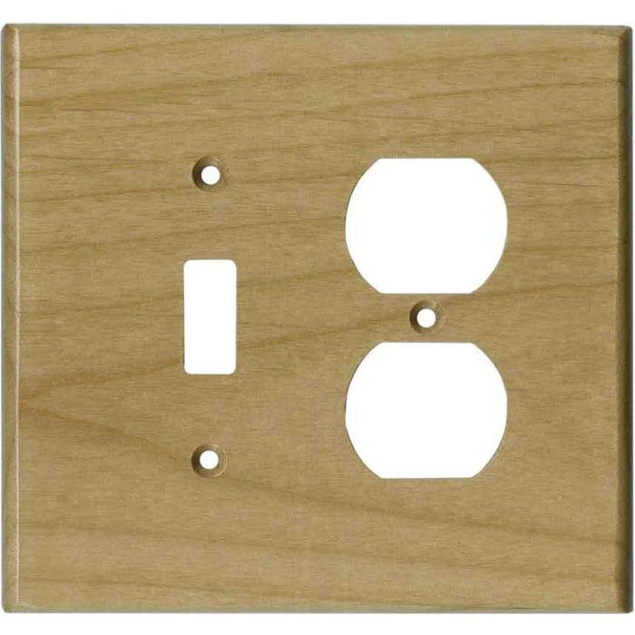 Alder Unfinished - Combination 1 Toggle/Outlet Cover Plates