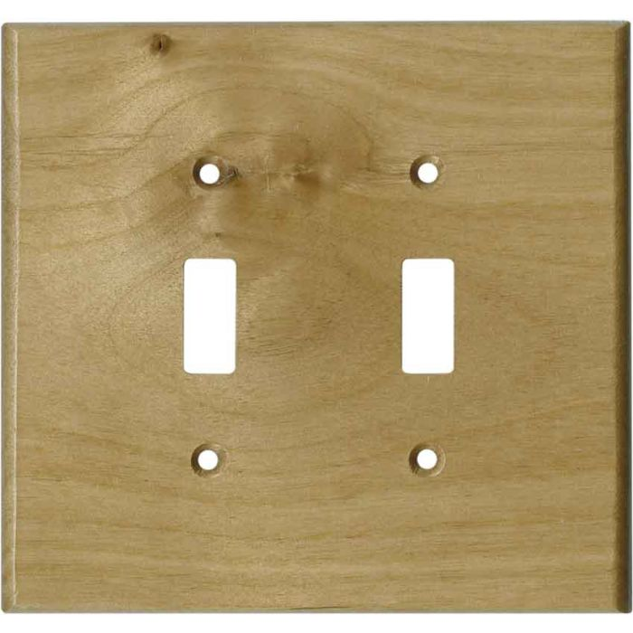 Alder Unfinished - 2 Toggle Switch Plate Covers