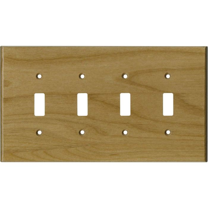 Alder Unfinished - 4 Toggle Light Switch Covers