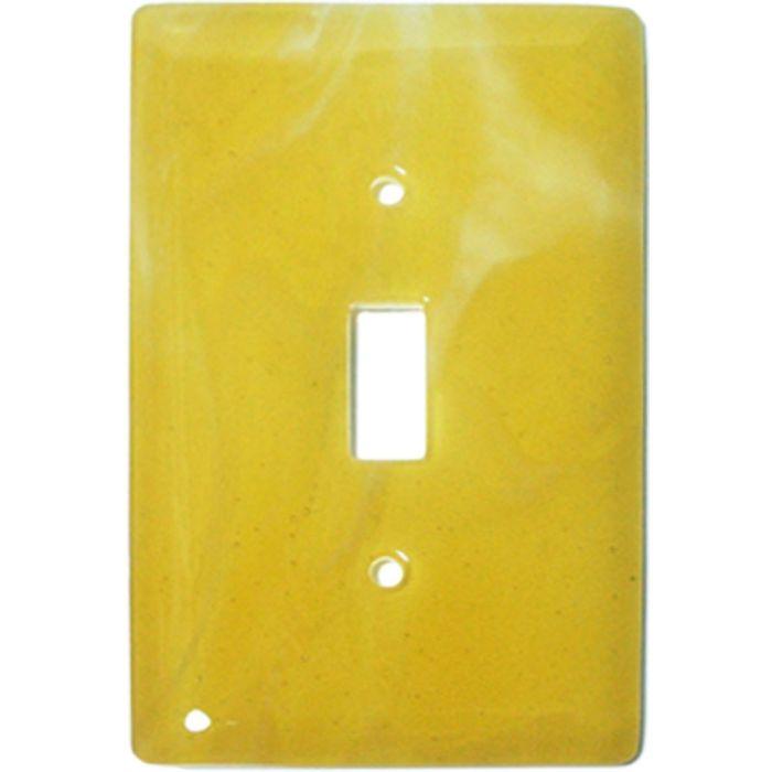 Amber Swirl Glass Single 1 Toggle Light Switch Plates
