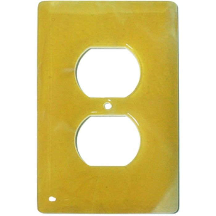 Amber Swirl Glass 1 Gang Duplex Outlet Cover Wall Plate