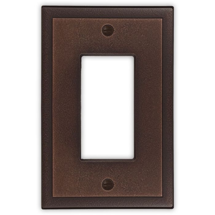 Ambient Oil Rubbed Bronze Single 1 Gang GFCI Rocker Decora Switch Plate Cover