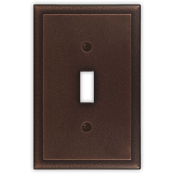 Ambient Oil Rubbed Bronze Single 1 Toggle Light Switch Plates