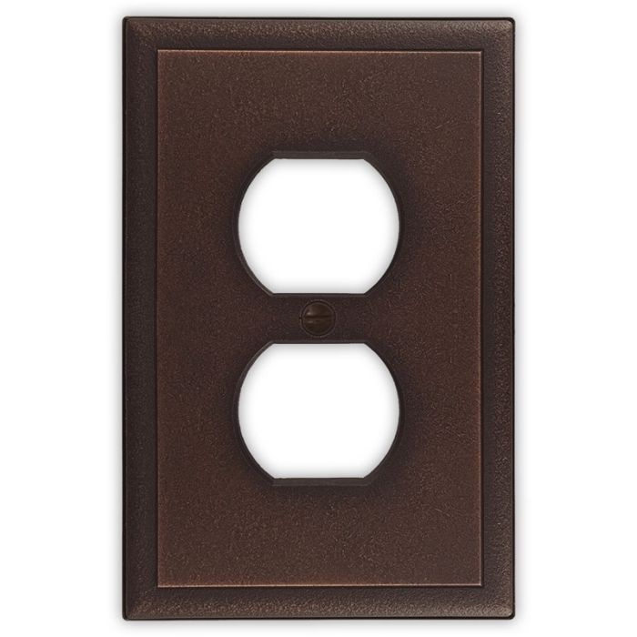 Ambient Oil Rubbed Bronze 1 Gang Duplex Outlet Cover Wall Plate