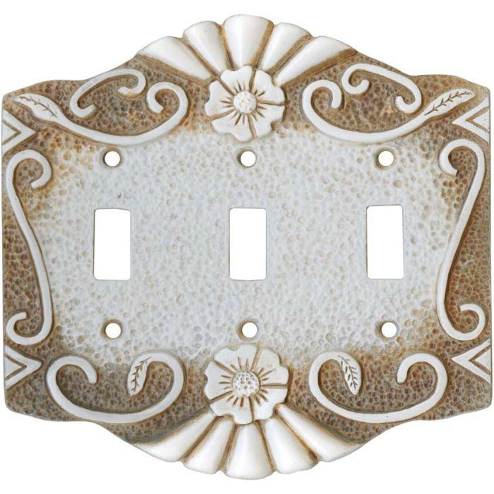 Antigua Cut Stone 3 - Toggle Switch Plates