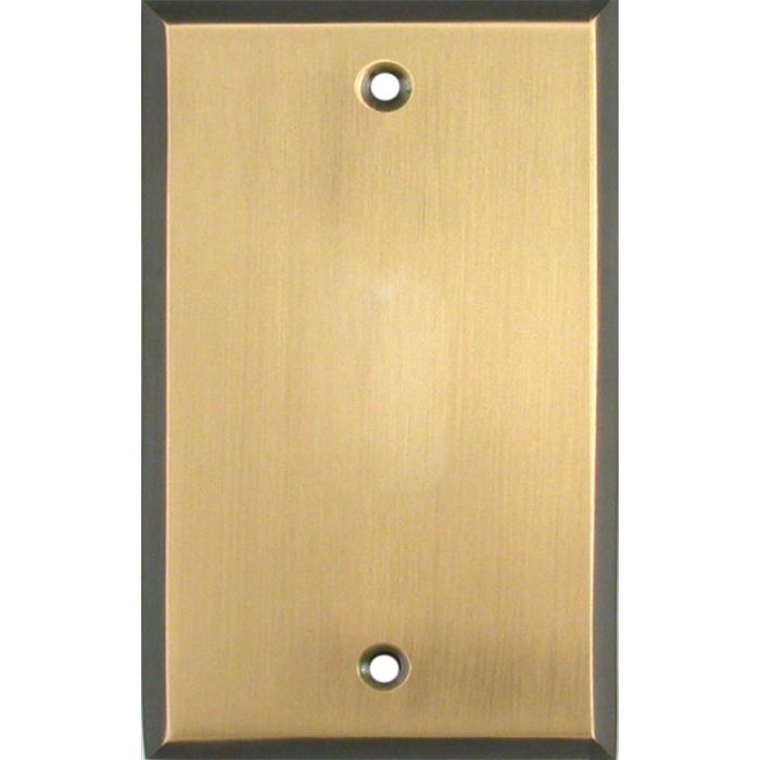 Antique Brass with Black Border - Blank Wall Plates
