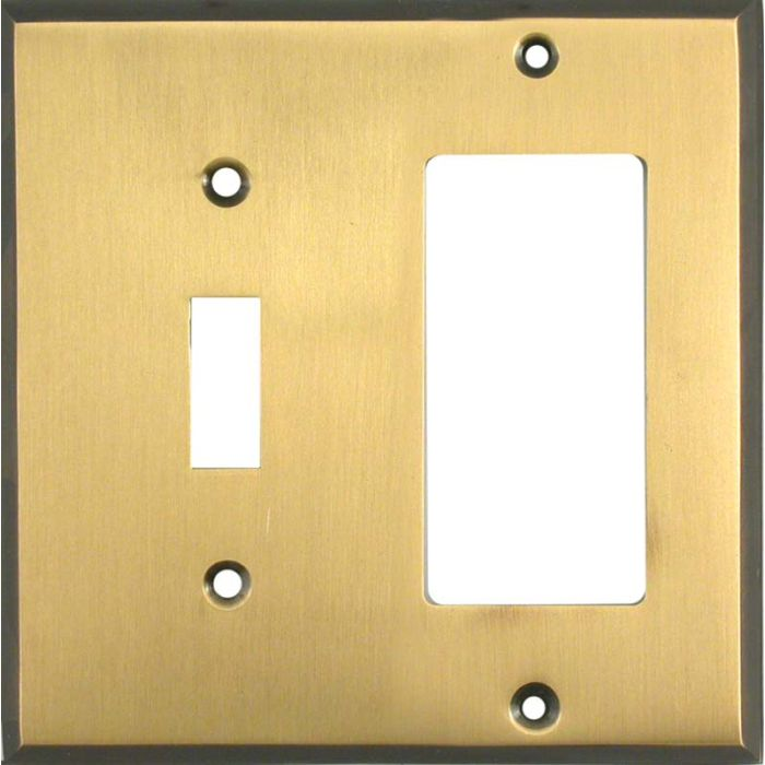 Antique Brass with Black Border - Combination 1 Toggle/Rocker Switch Covers