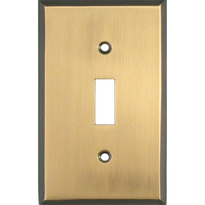 Antique Brass with Black Border - 1 Toggle Light Switch Plates