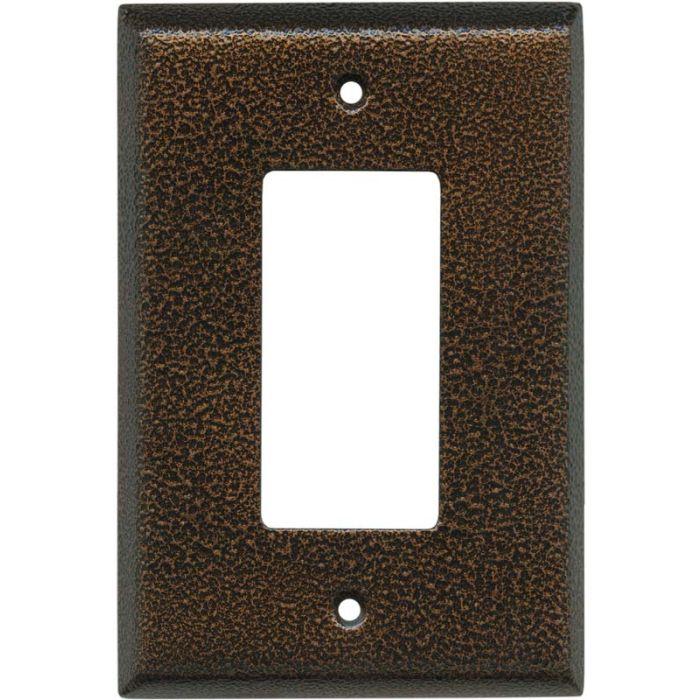Antique Copper Texture - GFCI Rocker Switch Plate Covers