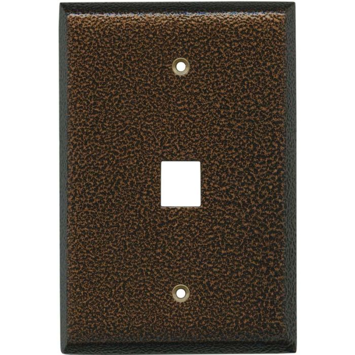 Antique Copper Texture 1 Port Modular Wall Plates for Phone, Data, Phone