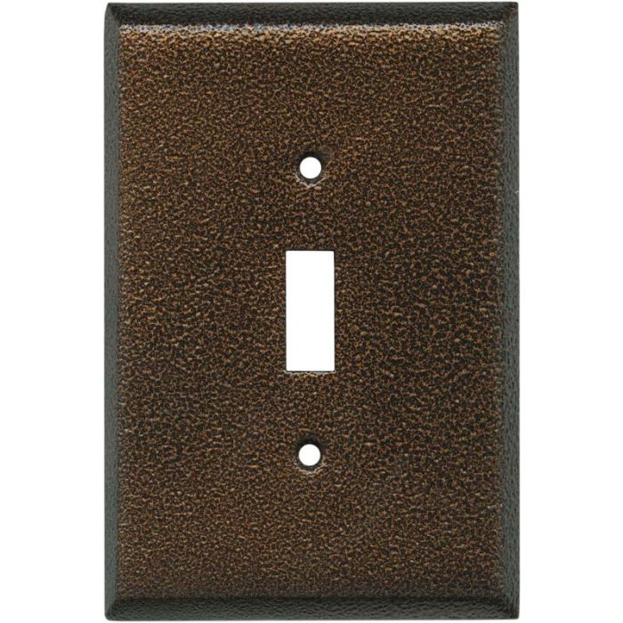 Antique Copper Texture - 1 Toggle Light Switch Plates