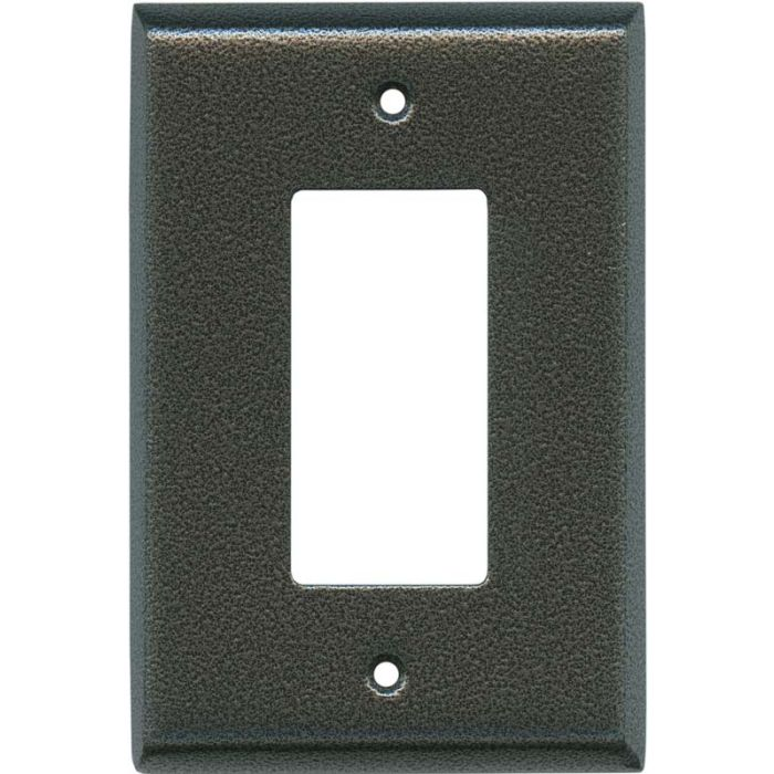 Antique Pewter Texture Single 1 Gang GFCI Rocker Decora Switch Plate Cover