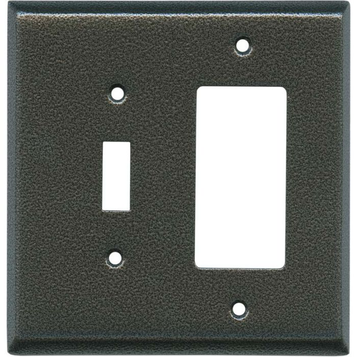 Antique Pewter Texture Combination 1 Toggle / Rocker GFCI Switch Covers