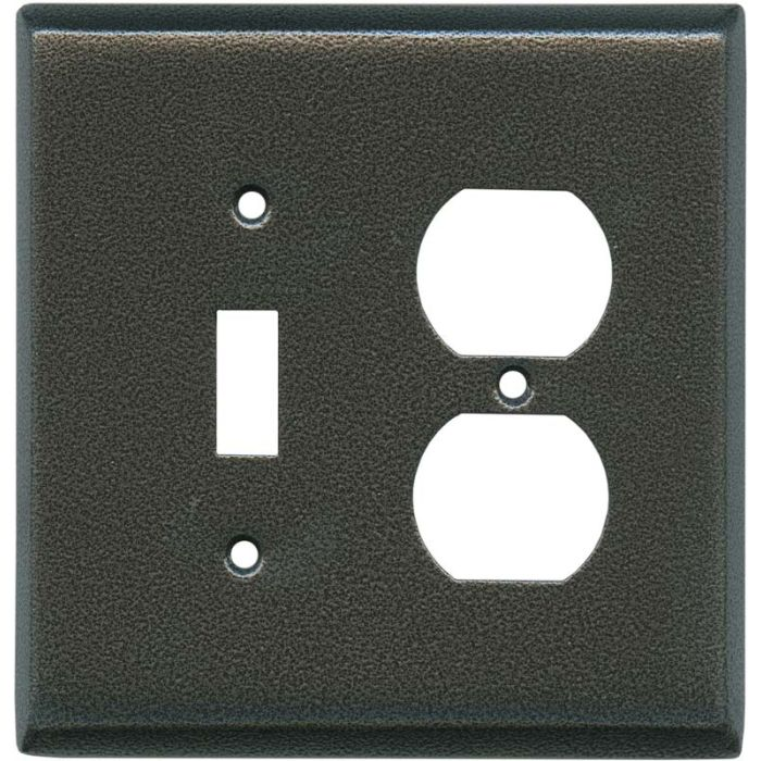 Antique Pewter Texture Combination 1 Toggle / Outlet Cover Plates
