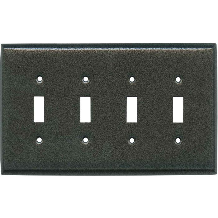 Antique Pewter Texture - 4 Toggle Light Switch Covers