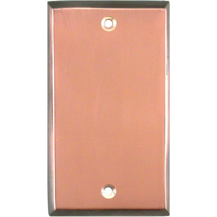 Antique Edge Copper Blank Wall Plate Cover