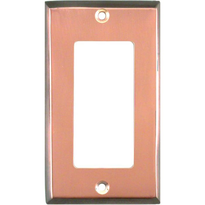 Antique Edge Copper Single 1 Gang GFCI Rocker Decora Switch Plate Cover