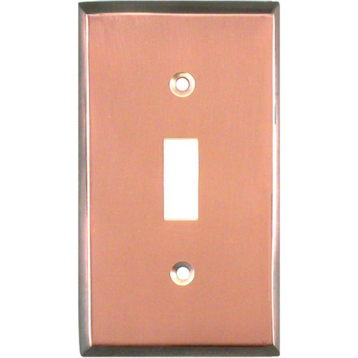 Antique Edge Copper Single 1 Toggle Light Switch Plates